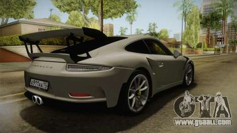 Porsche 911 GT3 RS 2015 for GTA San Andreas back left view