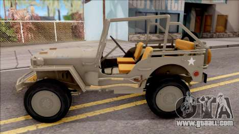 Jeep Willys MB 1945 for GTA San Andreas left view