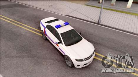 Cheval Fugitive Hometown PD 2012 for GTA San Andreas right view