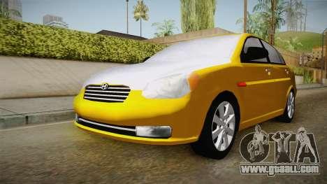 Hyundai Accent 2011 for GTA San Andreas right view