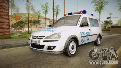 Opel Combo Ambulance for GTA San Andreas