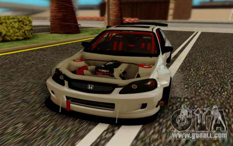Honda Civic 98 Hatch Rocket Bunny for GTA San Andreas back view