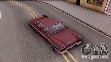 Plymouth Belvedere 1958 HQLM for GTA San Andreas right view