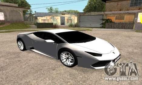 Lamborghini Huracan 2014 Armenian for GTA San Andreas right view