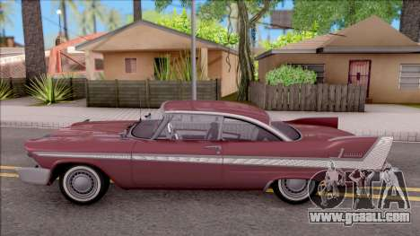 Plymouth Belvedere 1958 HQLM for GTA San Andreas left view