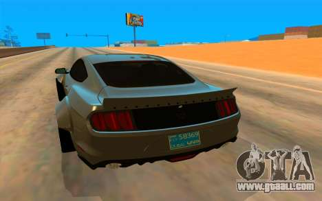 Ford Mustang Azure Inferno for GTA San Andreas right view