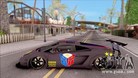 Lamborghini Gallardo Philippines v2 for GTA San Andreas left view