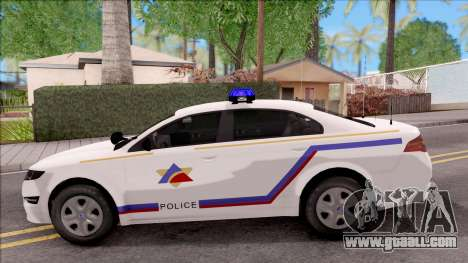 Vapid Police Interceptor Hometown PD 2012 for GTA San Andreas left view