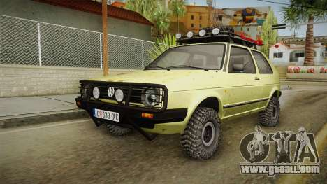 Volkswagen Golf Mk2 Country for GTA San Andreas back left view