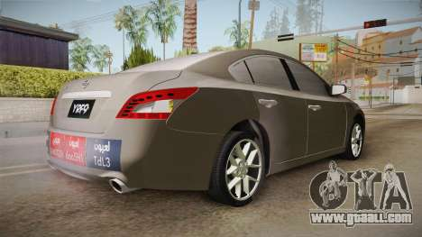 Nissan Maxima 2011 for GTA San Andreas back left view