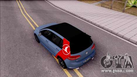 Volkswagen Golf 7 GTI Turkish Airlines for GTA San Andreas back view
