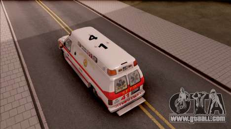 Ford E-350 SFFD San Francisco Ambulance for GTA San Andreas back view