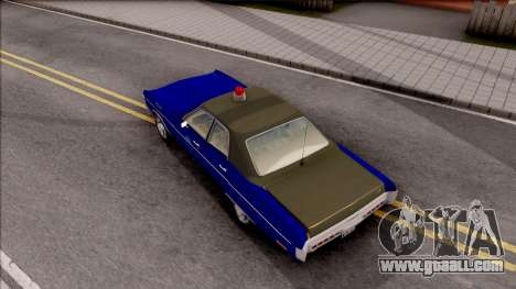 Plymouth Fury 1972 Housing Authority Police for GTA San Andreas back view