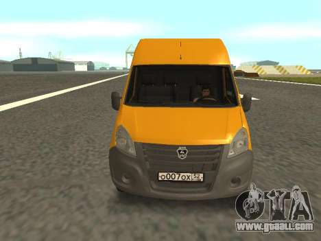GAS-A65R35 GAZelle NEXT Bus for GTA San Andreas back left view