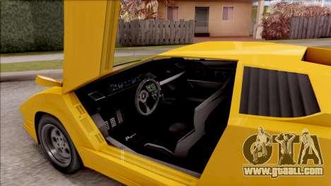 GTA V Pegassi Torero IVF for GTA San Andreas inner view