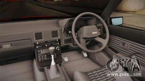 Toyota Celica Supra Cabrio 1984 for GTA San Andreas inner view