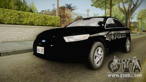 Ford Taurus Stealth 2016 YRP for GTA San Andreas back left view