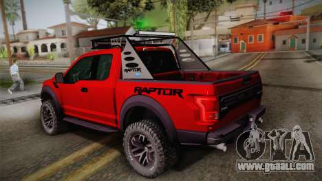 Ford F-150 Raptor 2017 for GTA San Andreas left view