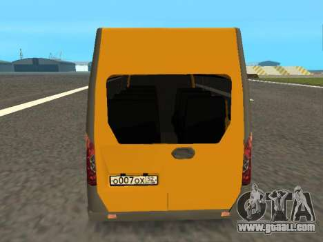 GAS-A65R35 GAZelle NEXT Bus for GTA San Andreas right view