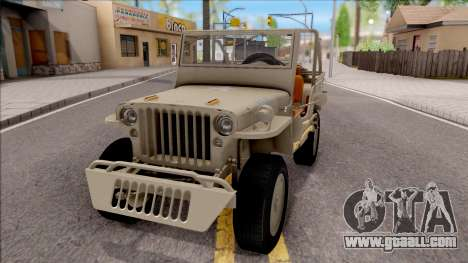 Jeep Willys MB 1945 for GTA San Andreas