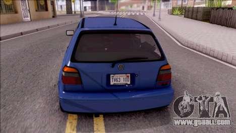 Volkswagen Golf GTI VR6 1998 for GTA San Andreas back left view