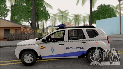 Renault Duster Spanish Police for GTA San Andreas left view