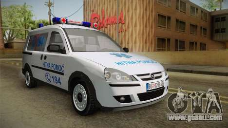Opel Combo Ambulance for GTA San Andreas right view