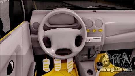 Daewoo Matiz Taxi for GTA San Andreas inner view