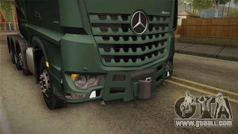Mercedes-Benz Arocs SLT 4163 8x4 Euro 6 v2 for GTA San Andreas upper view