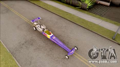 Dragster Red Bull for GTA San Andreas right view