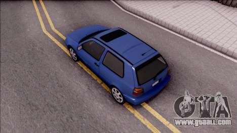Volkswagen Golf GTI VR6 1998 for GTA San Andreas back view
