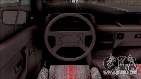Volkswagen Gol for GTA San Andreas inner view