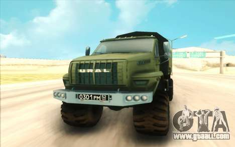 Ural NEXT Military for GTA San Andreas back view
