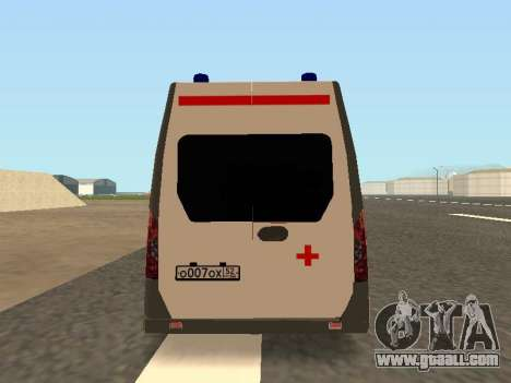 GAZelle Ambulance for GTA San Andreas right view