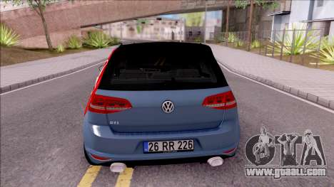 Volkswagen Golf 7 GTI Turkish Airlines for GTA San Andreas back left view