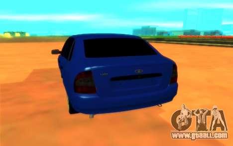 Lada Kalina for GTA San Andreas back view