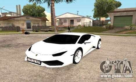 Lamborghini Huracan 2014 Armenian for GTA San Andreas