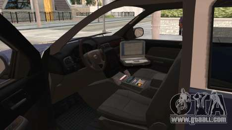 Chevrolet Tahoe Spanish Police for GTA San Andreas inner view