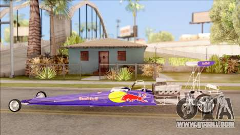 Dragster Red Bull for GTA San Andreas left view