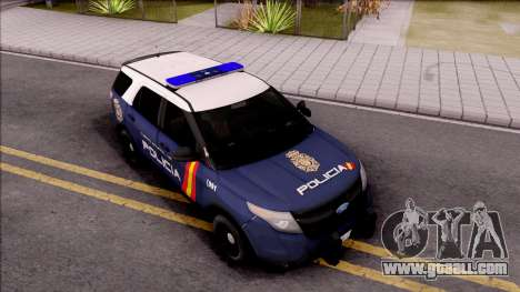 Ford Explorer Spanish Police for GTA San Andreas right view