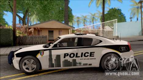Dodge Charger Los Santos Police Department 2010 for GTA San Andreas left view