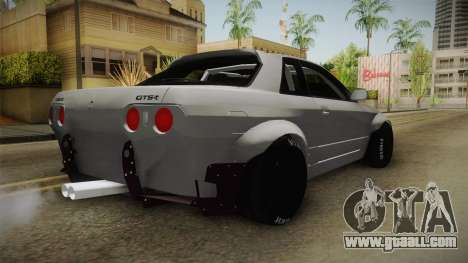 Nissan Skyline R32 Rocket Bunny for GTA San Andreas back left view