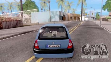 Renault Clio v2 for GTA San Andreas back left view