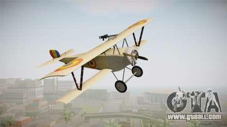 Nieuport 11 Bebe - Nr.1249 Romania for GTA San Andreas