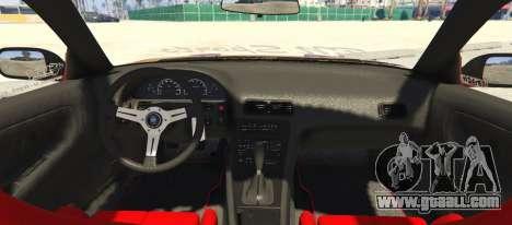 GTA 5 Nissan 240SX BN Sports III rear left side view