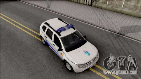 Renault Duster Spanish Police for GTA San Andreas right view