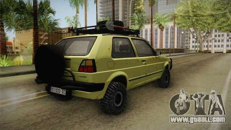 Volkswagen Golf Mk2 Country for GTA San Andreas right view