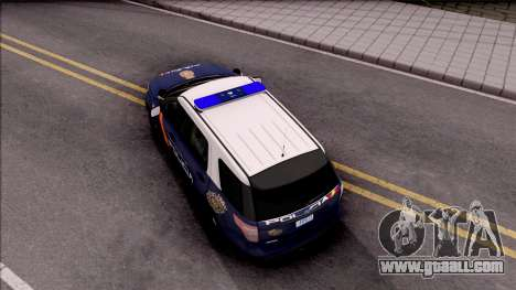 Ford Explorer Spanish Police for GTA San Andreas back view