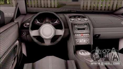 Lamborghini Gallardo Philippines v2 for GTA San Andreas inner view