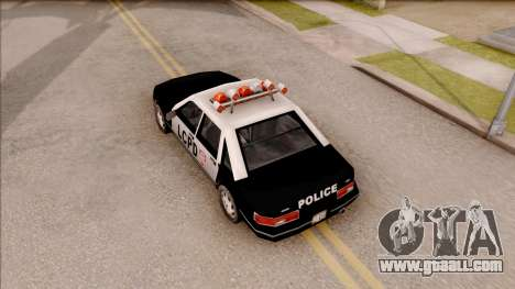 Police Car from GTA 3 for GTA San Andreas back view